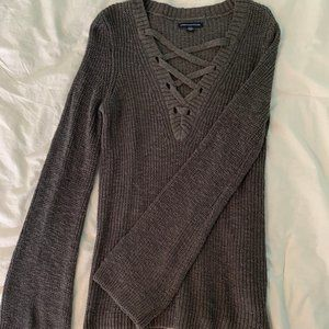 AE Bell Sleeve Sweater - Small - Grey